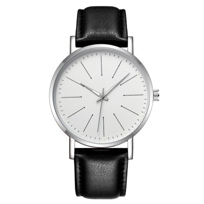 MEN Quartz Watch Creative Color Night Light Refers to Watch Leather Strap Business Watch