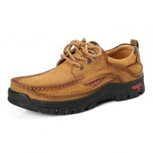 AILADUN Men Outdoor Casual Shoes Round Toe Lace-Up Large Size Shoes