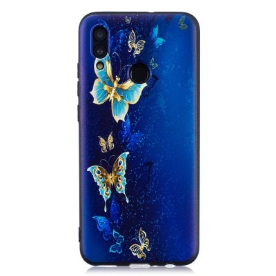 TPU Cartoon Embossed Painted Protective Phone Case for Huawei Honor 10 Lite