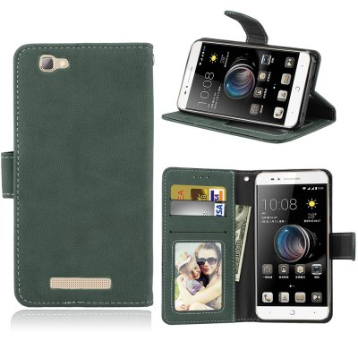 Card Slots Wallet Case Flip Cover PU Leather for ZTE Blade A610 V6 max