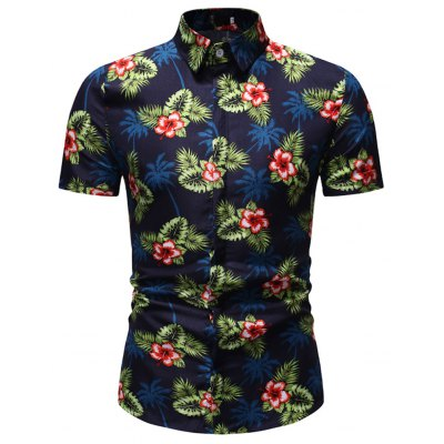 Men's  Summer Fashion Casual Trend Short-Sleeved Shirt